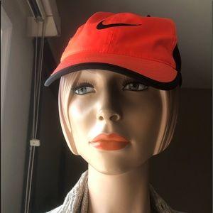 NWT Nike dri fit cap hat black & bright orange